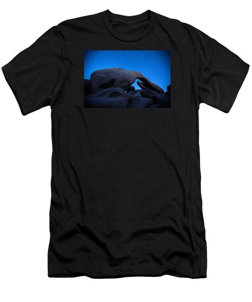 Men's T-Shirt (Slim Fit) featuring the photograph Arch Rock Starry Night 2 by Stephen Stookey