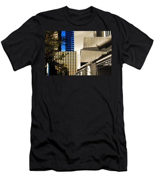 Architectural Crumpled Steel Gehry Men's T-Shirt (Athletic Fit)
