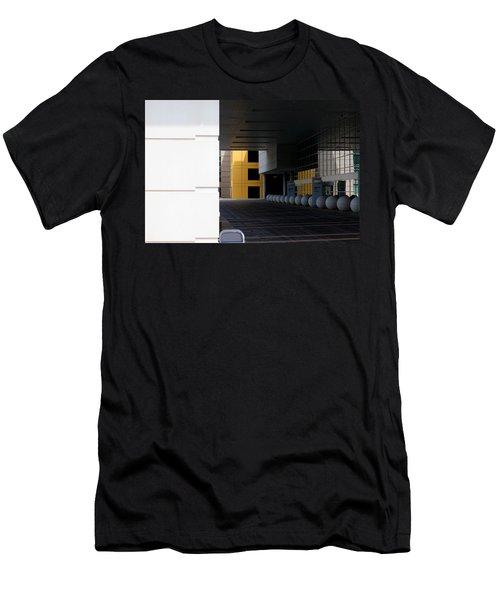 Architectural Pattern Spheres Men's T-Shirt (Athletic Fit)