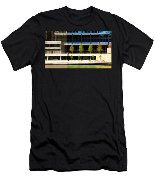 Architectural Pattern Trees Men's T-Shirt (Athletic Fit)