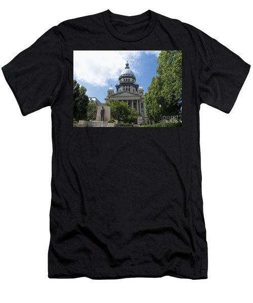 Architecture - Illinois State Capitol  - Luther Fine Art Men's T-Shirt (Slim Fit) by Luther Fine Art