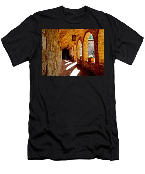 Archway By Courtyard In Castello Di Amorosa In Napa Valley-ca Men's T-Shirt (Athletic Fit)