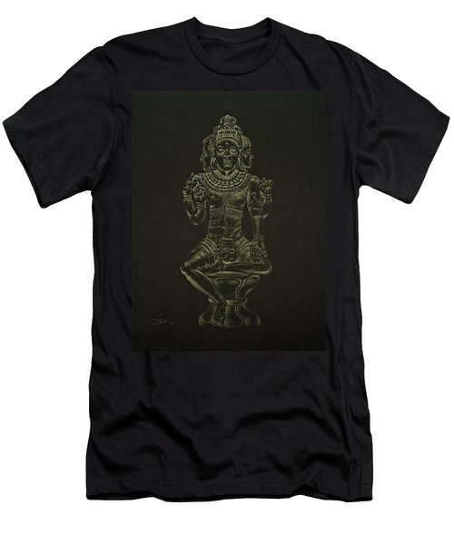 Men's T-Shirt (Slim Fit) featuring the drawing Ardhanarishvara I by Michele Myers