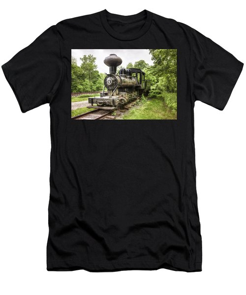 Men's T-Shirt (Slim Fit) featuring the photograph Argent Lumber Company Engine No. 4 - Antique Steam Locomotive by Gary Heller