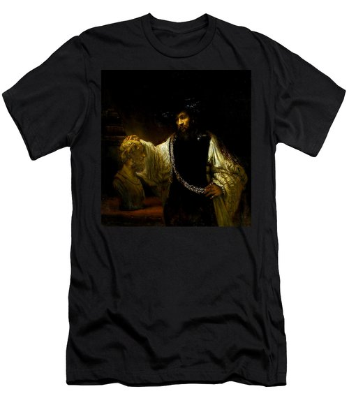 Aristotle Contemplating A Bust Of Homer Men's T-Shirt (Athletic Fit)
