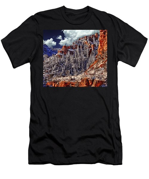 Arizona Secret Mountain Wilderness In Winter Men's T-Shirt (Athletic Fit)