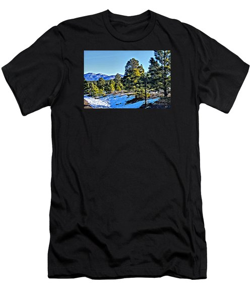 Men's T-Shirt (Athletic Fit) featuring the photograph Arizona Winter by Beauty For God