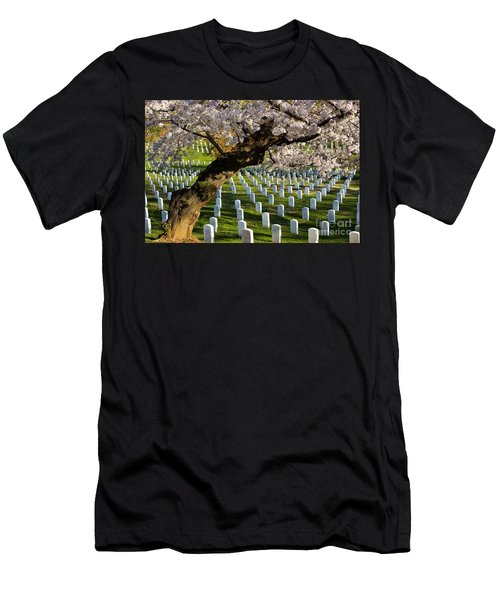 Men's T-Shirt (Athletic Fit) featuring the photograph Arlington National Cemetary by Brian Jannsen