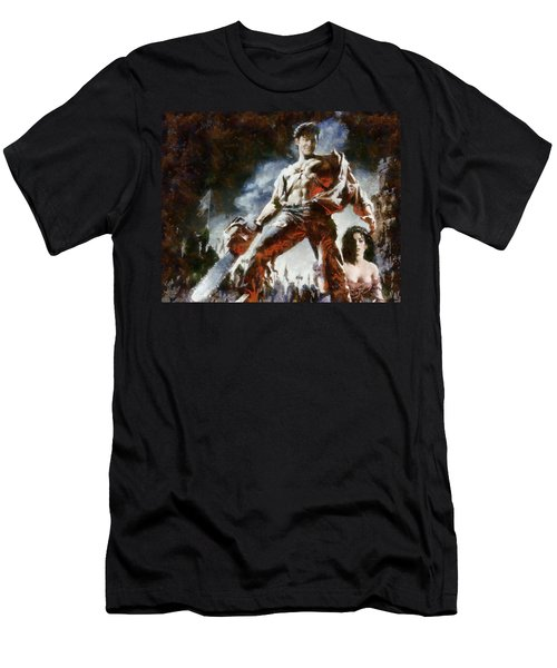 Men's T-Shirt (Slim Fit) featuring the painting Army Of Darkness by Joe Misrasi