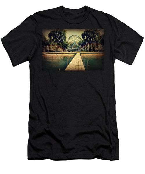 Arnolds Park Men's T-Shirt (Slim Fit) by Julie Hamilton