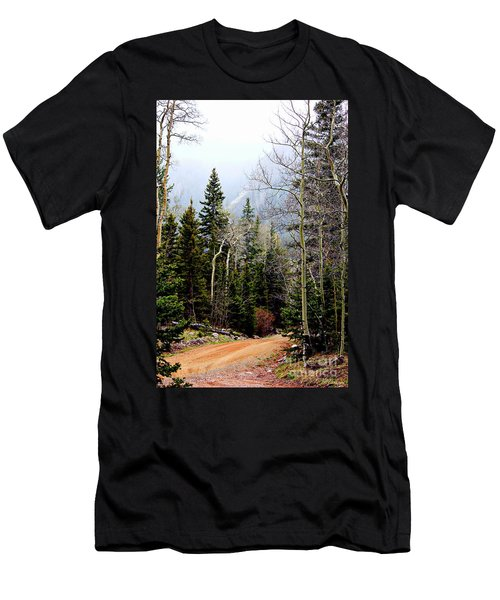 Around The Bend Men's T-Shirt (Slim Fit) by Barbara Chichester