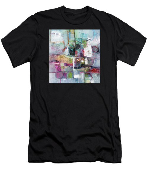 Men's T-Shirt (Athletic Fit) featuring the painting Art And Music by Michelle Abrams