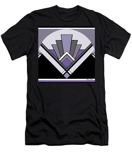 Art Deco Pattern Two - Purple Men's T-Shirt (Athletic Fit)
