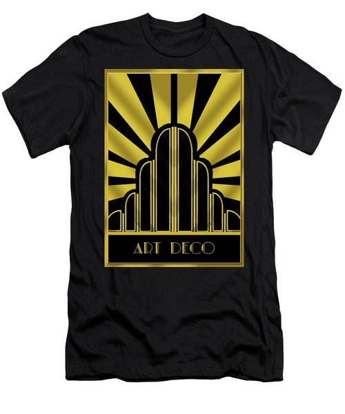 Art Deco Poster - Title Men's T-Shirt (Athletic Fit)