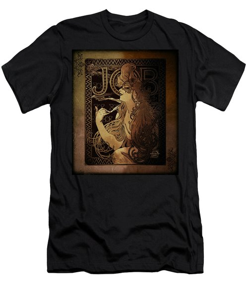 Art Nouveau Job - Masquerade Men's T-Shirt (Slim Fit) by Absinthe Art By Michelle LeAnn Scott