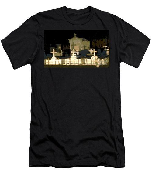 Men's T-Shirt (Slim Fit) featuring the photograph Louisiana Midnight Cemetery Lacombe by Luana K Perez