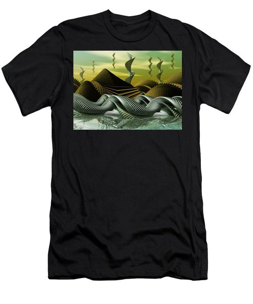 Men's T-Shirt (Slim Fit) featuring the digital art Artscape by John Alexander