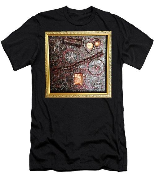 Assemblage Art By Alfredo Garcia Art  Men's T-Shirt (Athletic Fit)