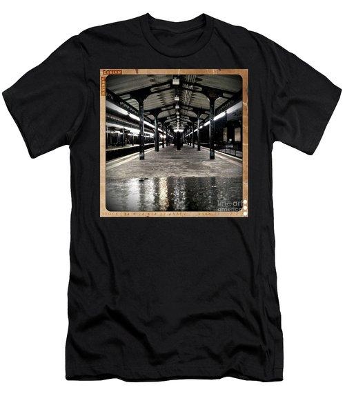 Men's T-Shirt (Slim Fit) featuring the photograph Astoria Boulevard by James Aiken