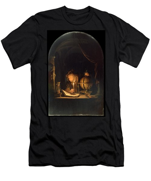 Astronomer By Candlelight Men's T-Shirt (Slim Fit) by Gerrit Dou
