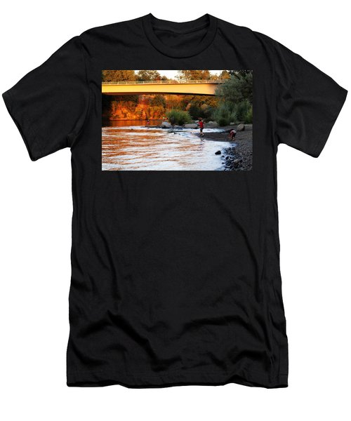 Men's T-Shirt (Slim Fit) featuring the photograph At Rivers Edge by Melanie Lankford Photography