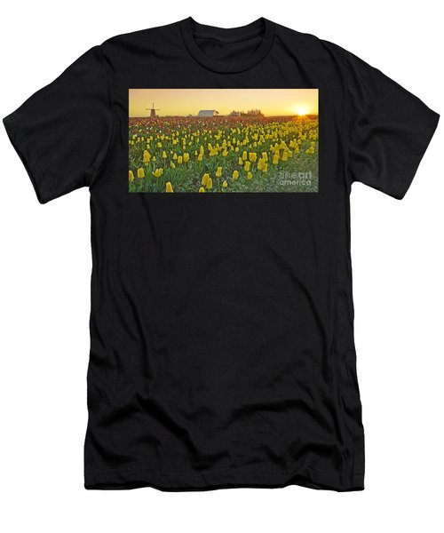 Men's T-Shirt (Slim Fit) featuring the photograph At The Crack Of Dawn by Nick  Boren