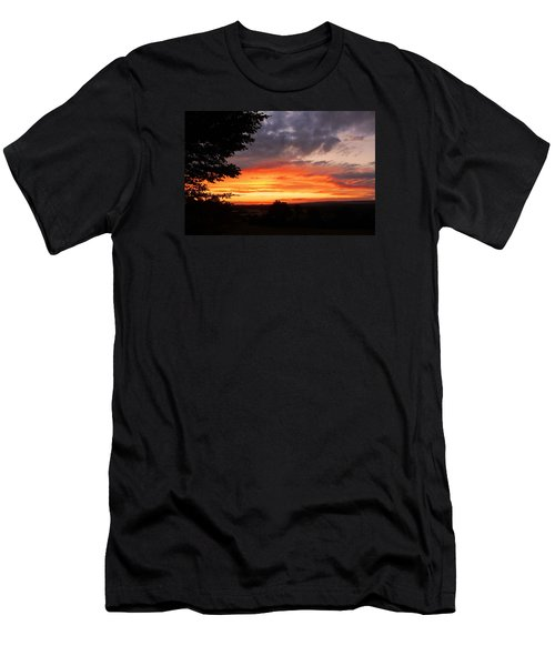 Men's T-Shirt (Slim Fit) featuring the photograph At The End Of The Day ... by Juergen Weiss
