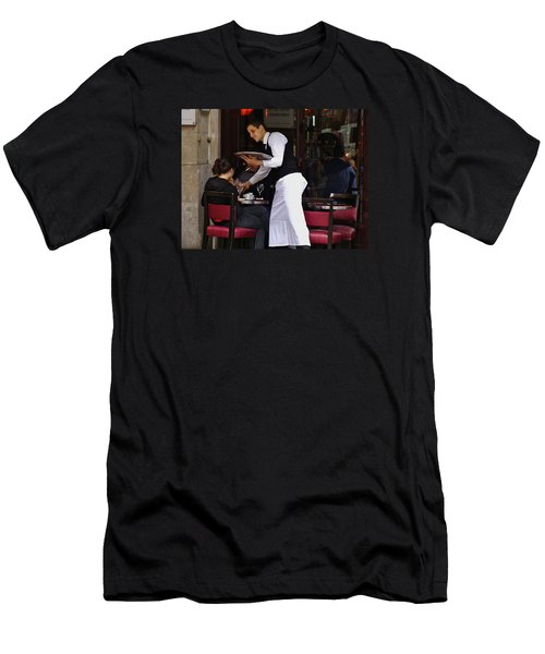 Men's T-Shirt (Slim Fit) featuring the photograph At Your Service by Ira Shander