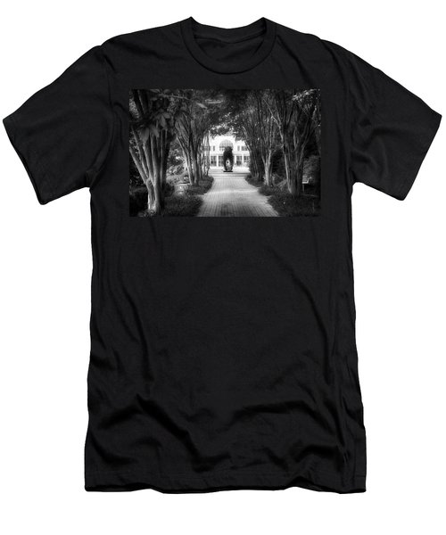 Atlanta Botanical Garden-black And White Men's T-Shirt (Slim Fit) by Douglas Barnard