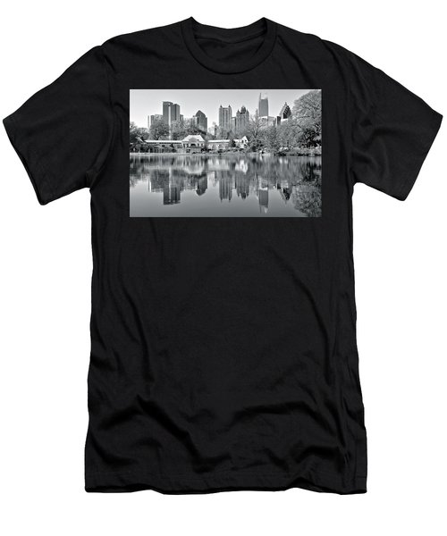 Atlanta Reflecting In Black And White Men's T-Shirt (Athletic Fit)