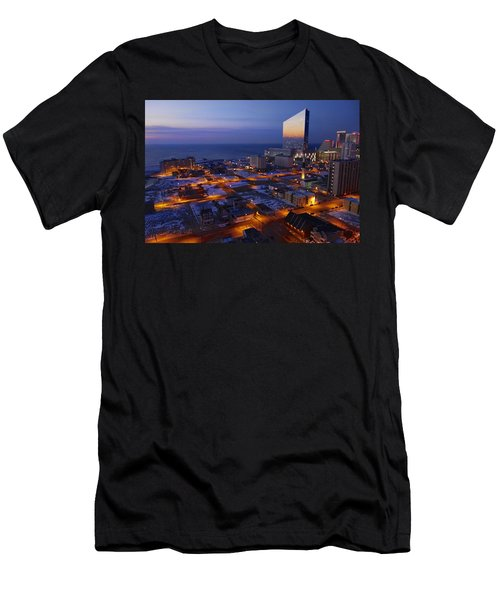 Atlantic City At Dawn Men's T-Shirt (Athletic Fit)