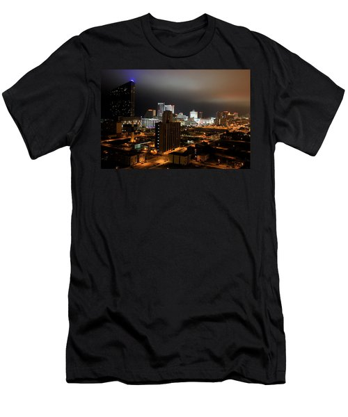 Atlantic City At Night Men's T-Shirt (Athletic Fit)