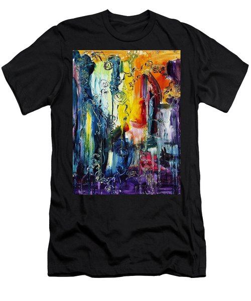 Atlantis Sinking Men's T-Shirt (Slim Fit) by Regina Valluzzi