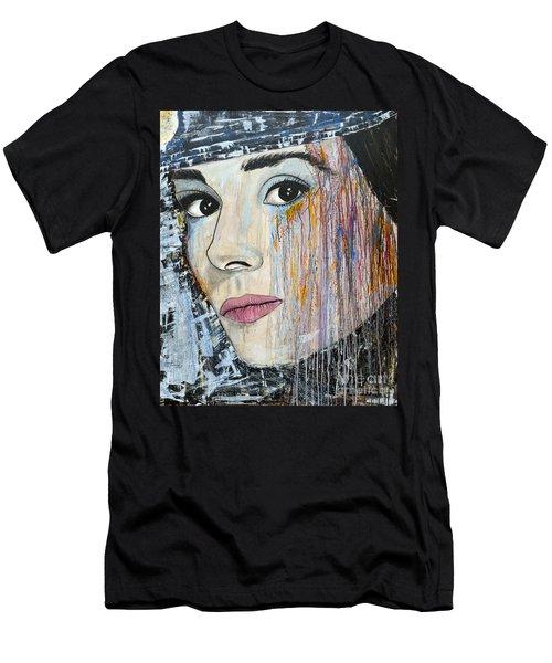 Audrey Hepburn-abstract Men's T-Shirt (Athletic Fit)