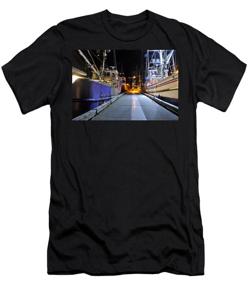 Men's T-Shirt (Slim Fit) featuring the photograph Auke Bay By Night by Cathy Mahnke