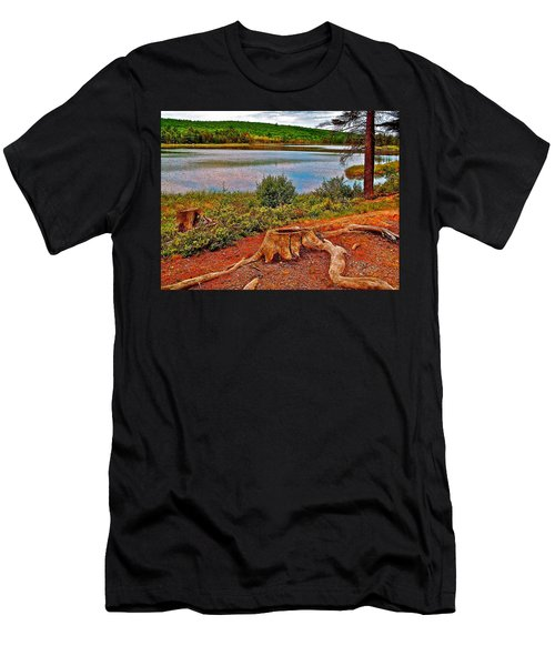 Aunt Betty Pond In Acadia National Park-maine  Men's T-Shirt (Athletic Fit)