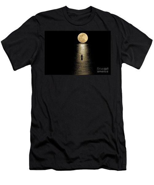 Auspicious Moon Men's T-Shirt (Athletic Fit)
