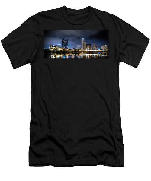 Austin Skyline Hdr Men's T-Shirt (Slim Fit) by David Morefield