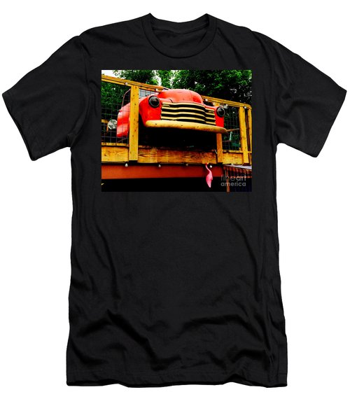 Austin Texas - Maria's Taco Express - Luther Fine Art Men's T-Shirt (Athletic Fit)