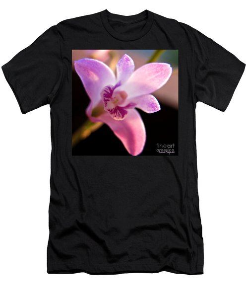 Australian Bush Orchid Men's T-Shirt (Slim Fit) by Leanne Seymour