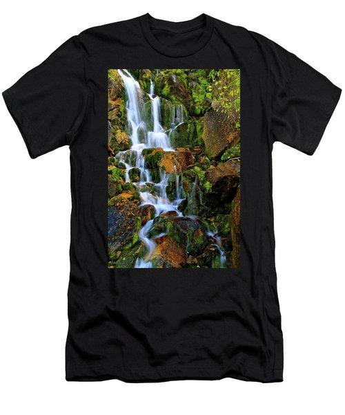 Autumn Along Summit Creek Men's T-Shirt (Athletic Fit)