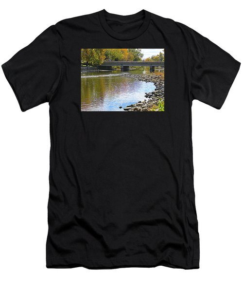 Autumn Along The Fox River Men's T-Shirt (Athletic Fit)