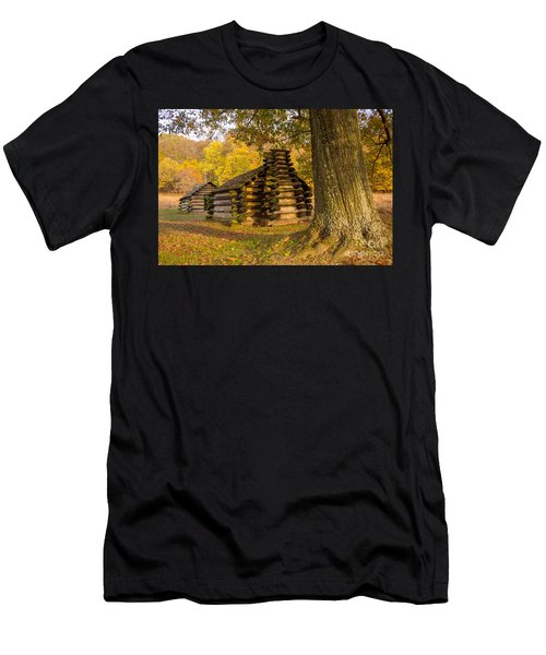 Autumn And The Huts At Valley Forge Men's T-Shirt (Athletic Fit)