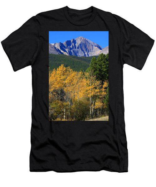 Autumn Aspens And Longs Peak Men's T-Shirt (Athletic Fit)
