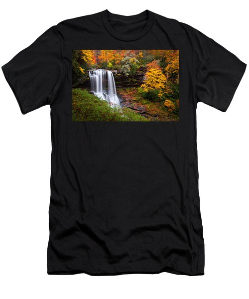Autumn At Dry Falls - Highlands Nc Waterfalls Men's T-Shirt (Athletic Fit)