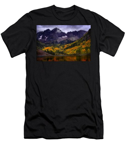 Men's T-Shirt (Slim Fit) featuring the photograph Autumn At Maroon Bells by Ellen Heaverlo