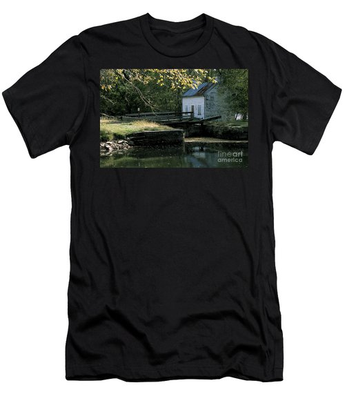 Autumn At The Lockhouse Men's T-Shirt (Athletic Fit)