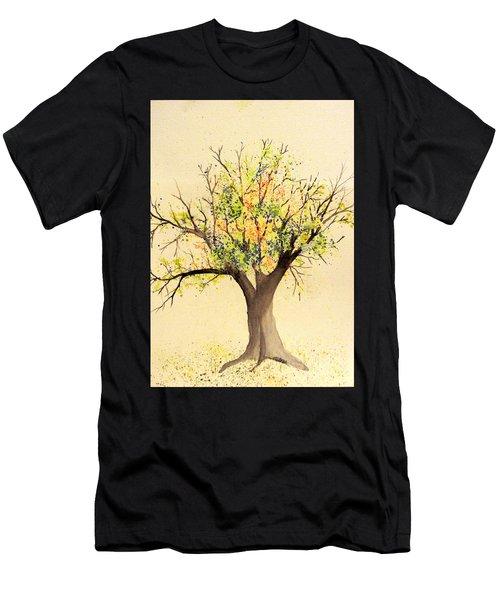 Autumn Backyard Tree Men's T-Shirt (Athletic Fit)