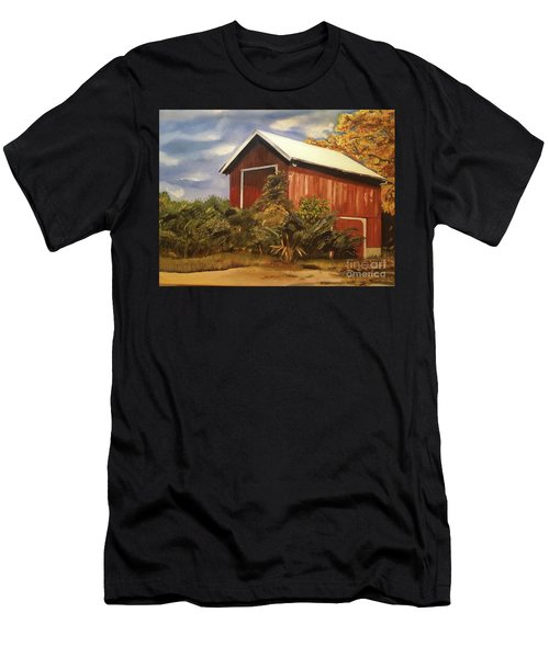 Autumn - Barn - Ohio Men's T-Shirt (Athletic Fit)