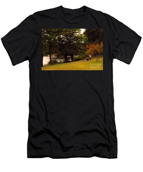 Autumn By The River Men's T-Shirt (Athletic Fit)